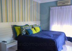 Enxovais coordenam as roupas de cama com os belos papéis de parede estampados em cada cômodo.