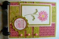 Birthday Card, Stampin Up stamp set and designer series paper.