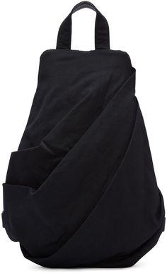 Yohji Yamamoto - Black Draped Backpack