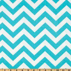Premier Prints Zig Zag Twill Girly Blue