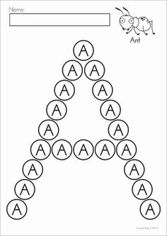 Alphabet Dot Worksheets. Use with bingo daubers, play dough, stickers, stamps, small objects... endless uses for these! Great for fine motor and developing early literacy concepts!