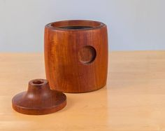 Teak Ice Bucket by Henning Koppel for Georg Jensen   From a unique collection of antique and modern more dining and entertaining at https://www.1stdibs.com/furniture/dining-entertaining/more-dining-entertaining/