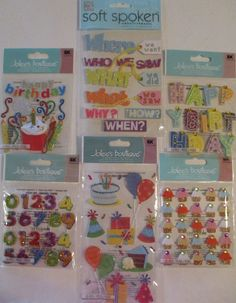 Jolee's Boutique BIRTHDAY Scrapbooking Stickers Cake Gifts Candles Balloons  #JoleesBoutique