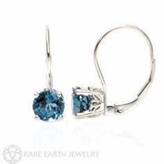 Gorgeous blue topaz earrings.