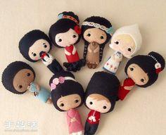 Obras muy lindo muñeca hecha a mano de los no tejidos aprecian - www.shouyihuo.com