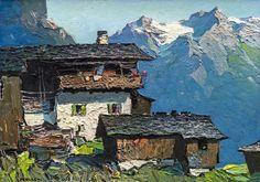 Oskar Mulley (Austrian, 1891-1949), Bergbauernhof, c.1930.