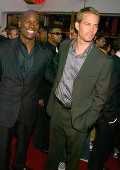 Paul and Tyrese at LA Premiere of 2 Fast 2 Furious 3rd June 2003