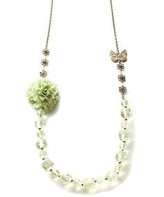Take a look at this Gold & Green 'Wish' Beaded Necklace by Kelly Rae Roberts on #zulily today! $17 !!