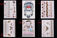 New Temporary Tattoos Gold Silver Metal Body Art Paint Tattoo Stickers Flash Metallic Sticker Eco-Friendly DIY Party #>=#>=#>=#>=#> Click on the pin to check out discount price, color, size, shipping, etc. Save and like it!