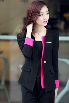 3pcs Spring & autumn women work wear 2015 Slim suits for women Office uniform style womens business suits Clothing set ZL2478