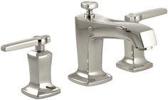 View the Kohler K-16232-4-SN Polished Nickel Margaux Widespread Bathroom Faucet…