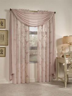 cortina com xale