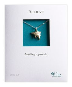 Sterling Silver Flying Pig Necklace by Lily Charmed Jewellery on #zulilyUK today!