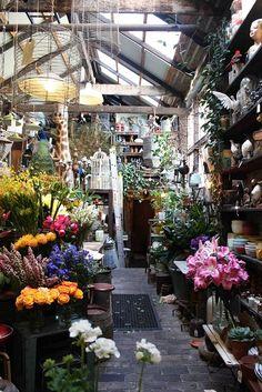 florist's workbench in an old workshop