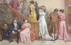 """The Next Dance"" by George Goodwin Kilburne (1839-1924)."