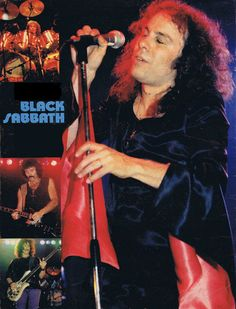 Black Sabbath live, Heaven and Hell tour Germany 1980.  Bill Ward, Tony Iommi, Geezer Butler and Ronnie James Dio.