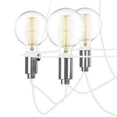 Cables Pendelleuchte - weiß - Globen Lighting