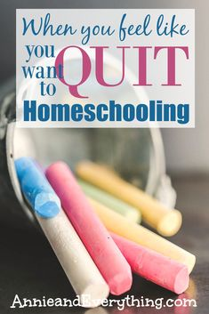 Are you at your wits' end and feel like you want to quit homeschooling? Get tips from a seasoned homeschool mom about how to think through your decision. And find out about an amazing resource that may just change your mind! Homeschool Books, Homeschool High School, Homeschool Curriculum, Homeschooling, Feel Like, Like You, Encouragement, How Are You Feeling, Teaching