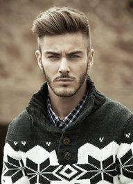 Love this hair style for men. It can be style sooooo many different ways. In growing out Elis hair very similar to this :)