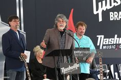 <a gi-track='captionPersonalityLinkClicked' href=/galleries/search?phrase=Randy+Owen&family=editorial&specificpeople=619729 ng-click='$event.stopPropagation()'>Randy Owen</a> of the Musical group Alabama speaks at the 2016 Music City Walk Of Fame Induction Ceremony at Music City Walk of Fame Park on May 26, 2016 in Nashville, Tennessee.