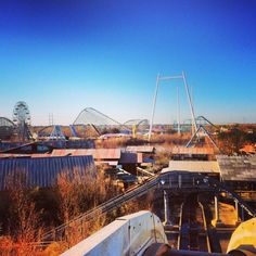 View of abandoned Six Flags NOLA from log flume