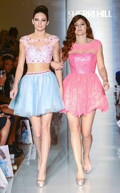 Kendall and Kylie Jenner at the Sherri Hill Spring/Summer 2013 show