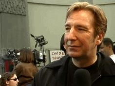 """Alan Rickman at the premiere of """"Galaxy Quest"""", 1999"""
