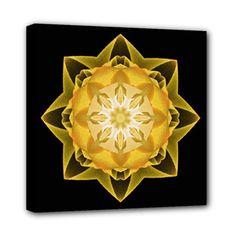 Canvas print fractal Stardust gold -  choose your favorite colour - by Droomcreaties, €29.95