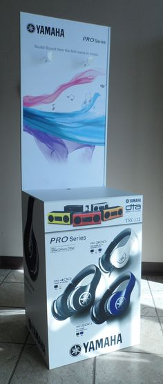 YAMAHA PRO Series headphone Merchandiser: Designed, printed, manufactured and distributed by Middleton Group Inc. Point Of Purchase, Art And Technology, State Art, Innovation, Concept, Group, Printed, Store