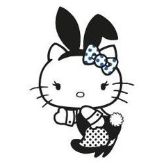 Playboy x Hello Kitty x Colette Hello Kitty Drawing, Hello Kitty Art, Hello Kitty Coloring, Hello Kitty Hoodie, Bad Cats, Bad Kitty, Hello Kitty Pictures, Hello Kitty Wallpaper, Playboy Bunny