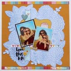My Creative Scrapbook October Main Kit Amy Tangerine- Oh Happy Life Scrapbooking, Papercrafting, Kit Club