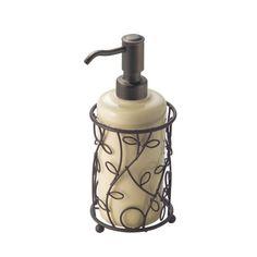 InterDesign Twigz Bath, Soap Pump, Vanilla/Bronze InterDesign http://www.amazon.com/dp/B004KKXB1Q/ref=cm_sw_r_pi_dp_9G0mub01H0XVY