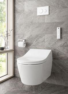Eine Verstopfung im Abfluss ist eine unangenehme Sache. Einerseits behindert sie die Benutzung der Toilette und anderen Geräten, andernfalls können Gerüche und Schäden entstehen. Handeln Sie schnell und bereinigen Sie die Verstopfung. Dies können Sie zum Beispiel mit einer speziellen Spirale tun, die in jedem Baumarkt erhältlich ist. Sie ist dafür entworfen worden, den Abfluss zu entstopfen. Modern Bathroom Decor, Bathroom Furniture, Bathroom Ideas, Grey Toilet, Wall Hung Toilet, Downstairs Toilet, Bidet Toilet Seat, Double Vitrage, Toilet Design