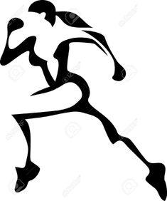 female track runner clip art girl running clip art vector clip rh pinterest com  free clipart woman running away