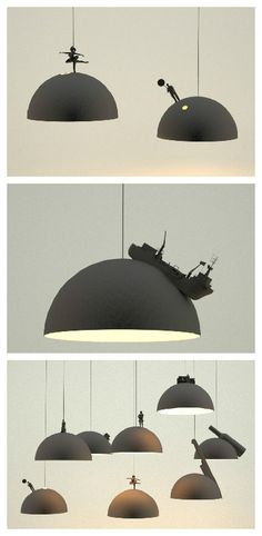 Land lamps by Leonardo Fortino #Design, #Earth, #Lamp, #Lampshade