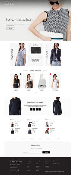 The Salomon is a #eCommerce #PSD template for online #stores selling fashion apparel, shoes and accessories. Download Now!