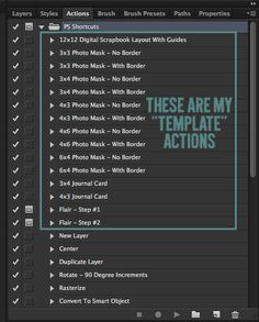 Photoshop Shortcuts Using Templates & Actions