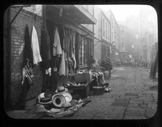 Horseman's Row c.1890 off Moore Street. The lane ran parallel and in between Parnell Street (Great Britain Street) and Henry Street. 11 Streets or laneways disappeared with the construction of the Ilac centre