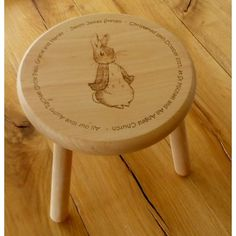 Fine Personalised Childs Wooden Stools Pdpeps Interior Chair Design Pdpepsorg