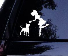 Sassy Pit Lady Loves Her Pitbull Dog Decal Window Sticker