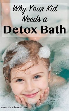 Grumpy or sick kids? Get 'em in the bathtub! Warm and soothing, detox baths help draw toxins out through the skin and ease the burden on the liver. They work great for kids and grownups alike!