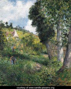 Paysage 'au chou', pres pontoise - Camille Pissarro