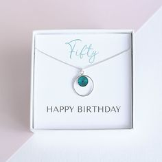 moms birthday A lovely unique gift to celebrate the birthday. This karma necklace with the addition of the Swarovski Birthstone Crystal makes a meaningful gift to celebrate 50th Birthday Gifts For Woman, Moms 50th Birthday, Personalized Birthday Gifts, Happy Birthday, Presents For Her, Gifts For Mum, Gifts For Women, Birthstone Pendant, Unique Gifts
