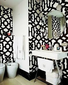 Pretty Patterned Walls- i think this is my fave