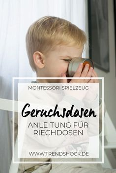 Instructions for Montessori Smell Cans Spring Toddler Crafts, Easy Toddler Crafts, Toddler Activities, Attachment Parenting, Baby Play, Baby Kids, Diy For Kids, Gifts For Kids, Maria Montessori