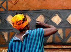Africa   Wall painting.  Tiebele, southeastern Burkina Faso   ©Ann Schunior