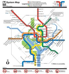 Washington Dc Subway Map (metro)File Type: png, File size: 155739 bytes KB), Map Dimensions: x colors) Washington Metro Map, Washington Dc Vacation, Washington Usa, Map Metro, Metro Rail, System Map, Subway Map, Use E Abuse, U Bahn