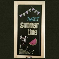 Summer chalkboard art
