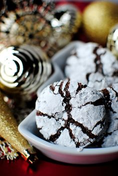 Chocolate Crinkle Cookies For Cookie exchange