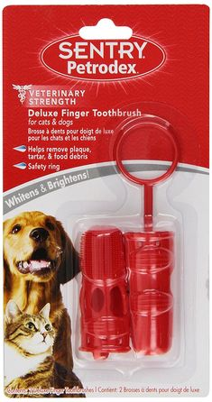 SENTRY Petrodex Delux Finger Toothbrush for Dogs and Cats, 2 count ** Additional details at the pin image, click it  : Dog Health Supplies